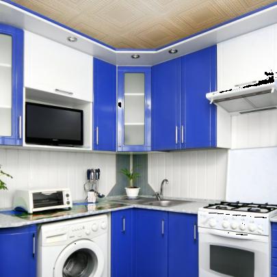 Фото интерьера малогабаритной кухни из магазина Кухмастер в Саратове